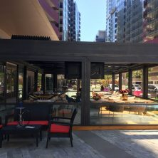 Cafe, Sabit, Giyotin Cam Sistemi