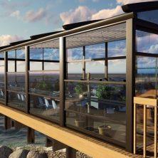 Deniz Kenarı, Cafe & Restorant, Giyotin Cam Sistemi