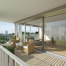 Balkon Kapısı, Beyaz Ahşap, Hebeschiebe Cam Sistemi