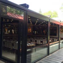 Siyah Renkli, Restorant, Giyotin Cam Sistemi