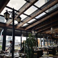 Restaurant, Doğal Ahşap, Açılır, Kapanır, Panel Roof