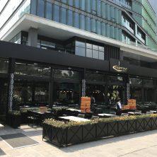 Siyah, Modern, Kaşıbeyaz Restorant, Giyotin Cam Sistemi