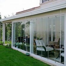 Bahçe Kapısı, Beyaz Ahşap, Likya Sürme Cam
