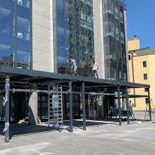 Maksim Otel Giriş Kat ve Üst Kat Teras Alüminyum Panel Roof