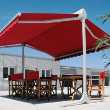 Kırmızı Dekoratif, Kasetli Tente