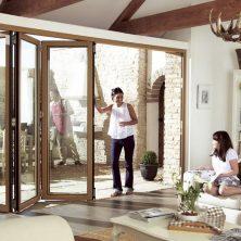 Ahşap Mimari Akordeon Kapı