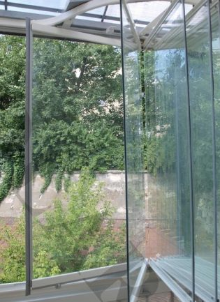Kış Bahçeli, Katlanır Cam Balkon Sistemi