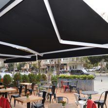 Siyah, Cafe, Mafsallı Tente