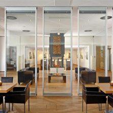 Ofis içi, Gri, Cam Bölme Sistemi