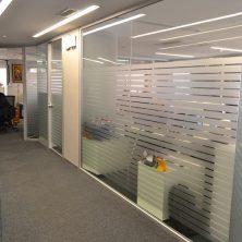 Şerit Çizgili, Ofis, Cam Bölme Sistemi