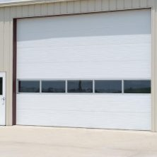 Camlı Beyaz Renkli, Seksiyonel Garaj Kapıları