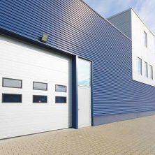 Beyaz, Mavi Renkli, Seksiyonel Garaj Kapıları