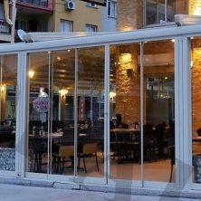 Katlanır Cam Balkon, Restaurant, Beyaz