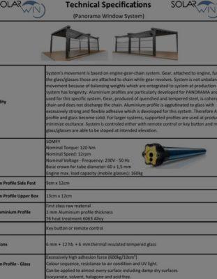 Isıcamlı Giyotin Cam Sistemleri Teknik Kataloğu