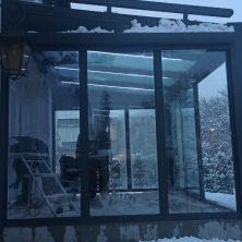 Sabit Isıcamlı Veranda ısı cam Elit Seri Sürme Kış Bahçesi